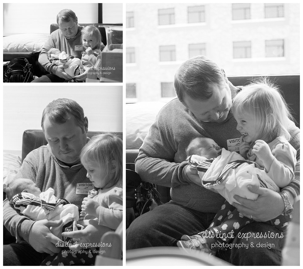 newborn baby in hospital lifestyle birth story meet big sister sibling daddy