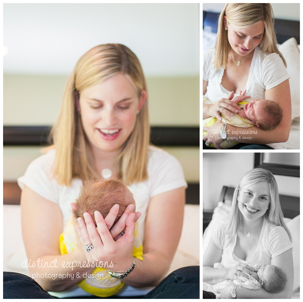 Metro Detroit in-home newborn lifestyle photo session