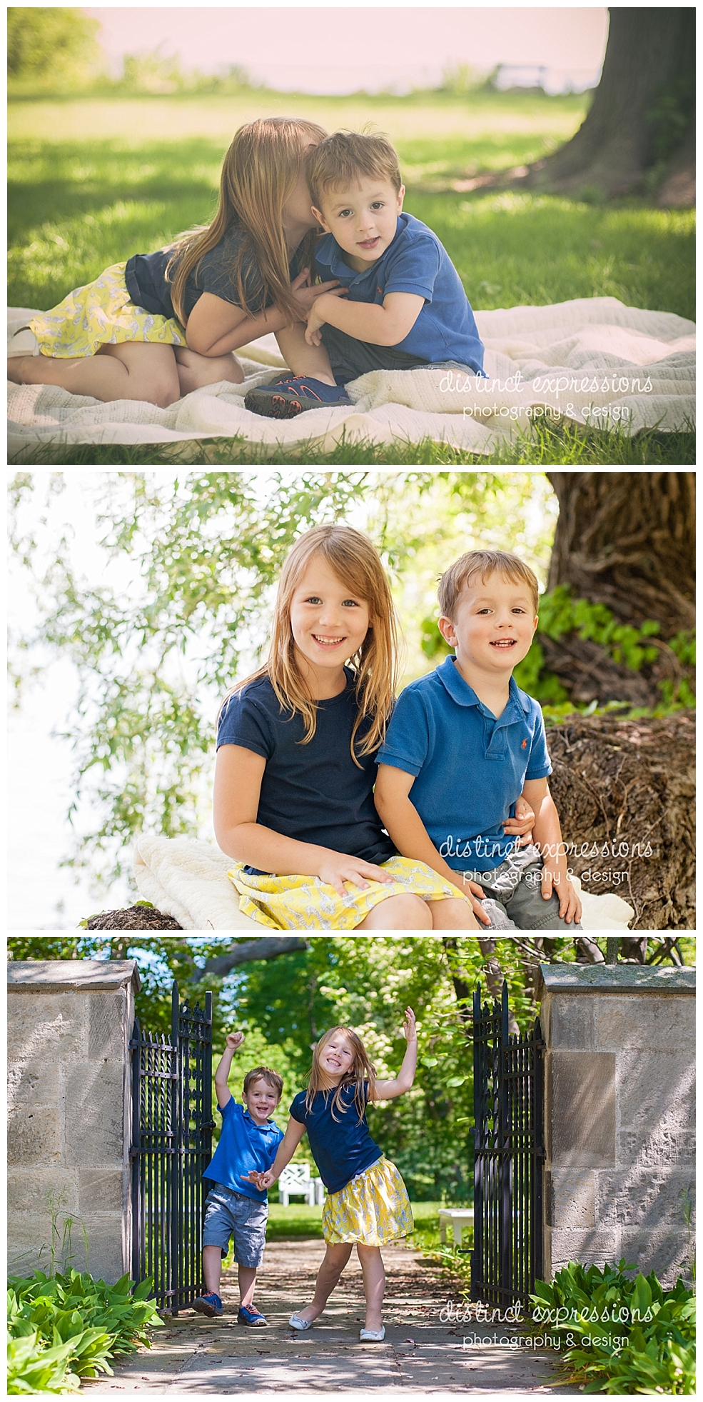 brother and sister siblings photography session outdoors in Metro Detroit