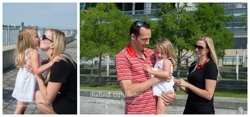 Downtown Metro Detroit Urban Session on river walk Grosse Pointe Child & Family Photographer