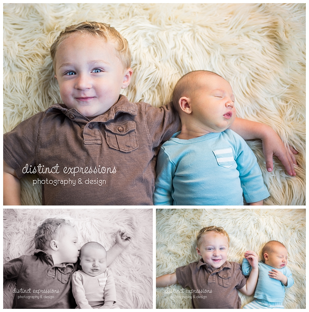 Metro Detroit newborn baby boy studio photo session
