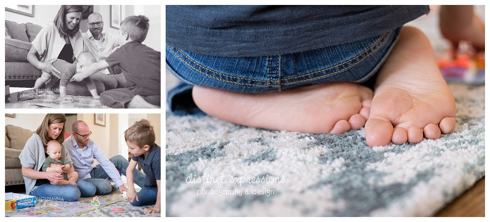 Grosse Pointe lifestyle family photo session documenting everyday life through photos with two boys doing yoga, playing, reading and preparing food